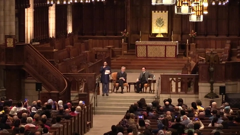 """Thumbnail for entry Abrahamic Faith in the """"Age of Feeling"""" – Professor Robert George and Shaykh Hamza Yusuf in Dialogue"""