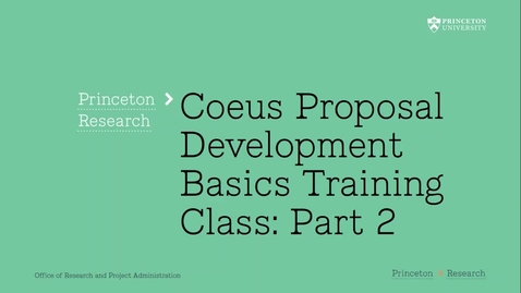 Thumbnail for entry 2.2 Coeus Proposal Basics Part 2:  The Buttons!