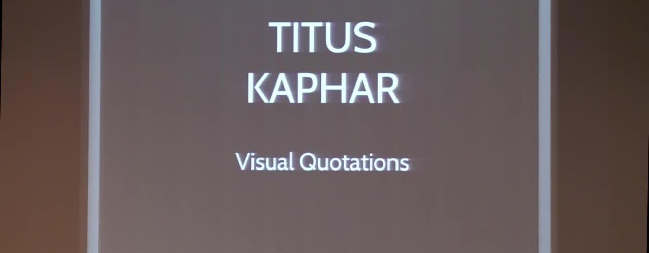 Artist Talk | Titus Kaphar