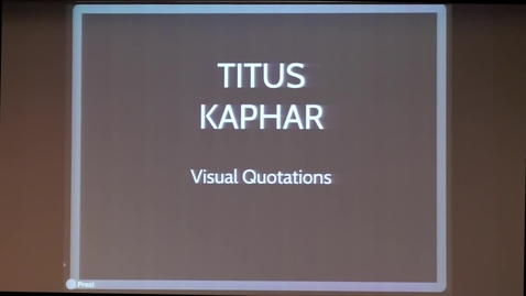 Thumbnail for entry Artist Talk | Titus Kaphar