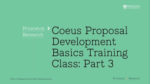 Thumbnail for entry 2.3 Coeus Proposal Basics Part 3:  Finding, Editing, Copying, Deleting a Proposal