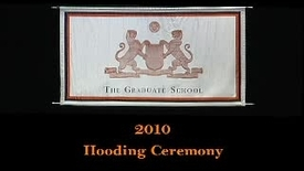 Thumbnail for entry Hooding Ceremony 2010