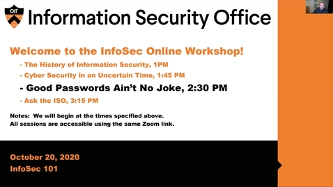 Thumbnail for entry Webinar: Good Passwords Ain't No Joke