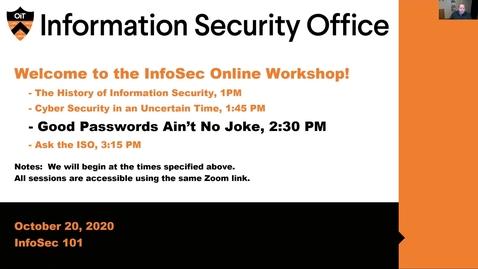 Thumbnail for entry Webinar: Good Passwords Ain't No Joke