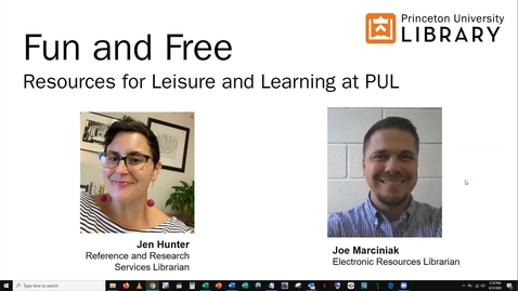 Thumbnail for entry Fun and Free: Resources for Leisure and Learning from PUL