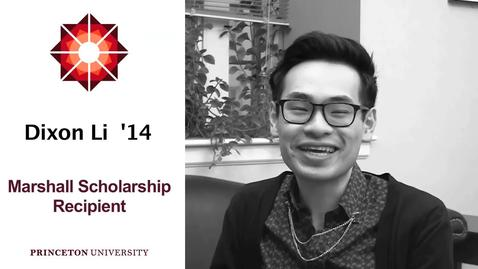 Thumbnail for entry Dixon Li - Marshall Scholarship Recipient