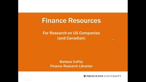 Thumbnail for entry JIW Finance Domestic Companies Data Resources