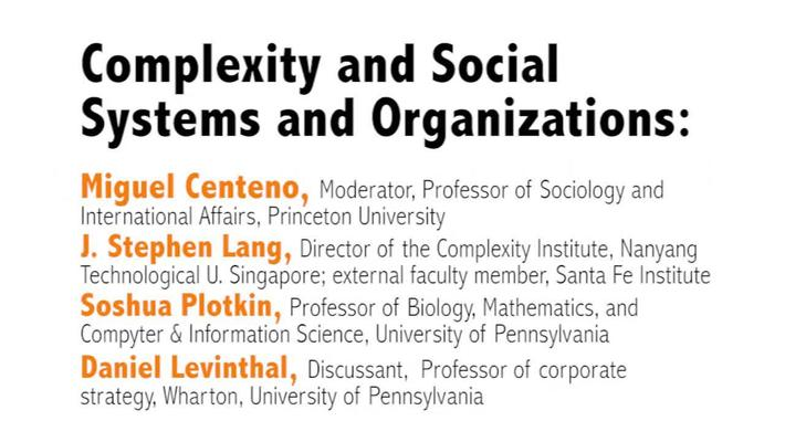 Metaphor – Promise and Peril: Complexity and Systems Thinking in Action : Day 1, Video 4: Complexity and Social Systems and Organizations