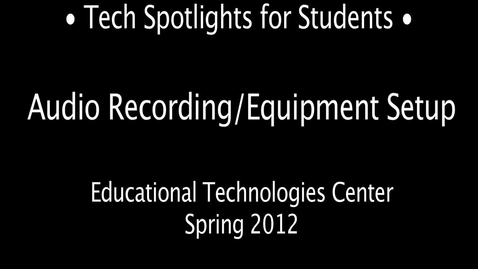 Thumbnail for entry Tech Spotlight: MR Daniel on Digital Audio Production in the NMC - 2