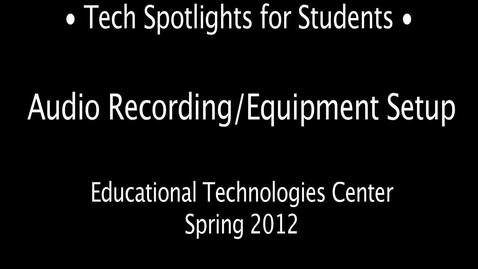 Thumbnail for entry Tech Spotlight: MR Daniel on Digital Audio Production in the NMC - 2