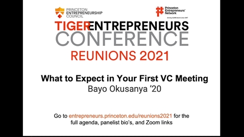 Thumbnail for entry Workshop: What to Expect in Your First VC Meeting