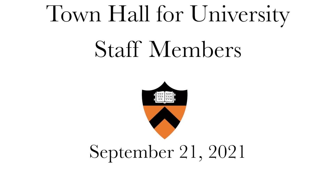 PU Town Hall 09212021