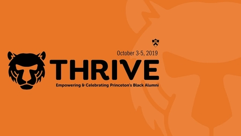 Thumbnail for entry Thrive - A Conversation with Christopher L. Eisgruber '83