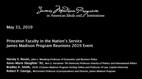 Thumbnail for entry Princeton Faculty in the Nation's Service