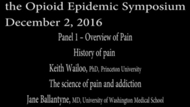 Thumbnail for entry Pain Management Conference: Panel 1 – Overview of Pain