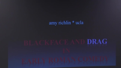 Thumbnail for entry Faber Lectures: Amy Richlin