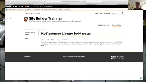 Thumbnail for entry Resource Library Demo from Website Wednesday, April 21, 2021