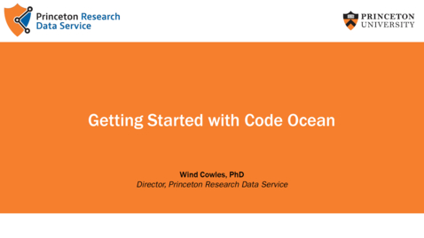 Thumbnail for entry Getting Started with Collaboration Tools: Code Ocean