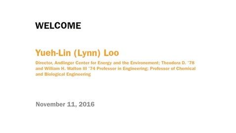 Thumbnail for entry Welcome Address - Yueh-Lin (Lynn) Loo