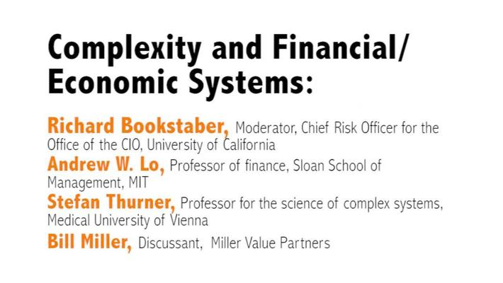 Metaphor – Promise and Peril: Complexity and Systems Thinking in Action : Day 1, Video 2: Complexity and Financial/Economic Systems