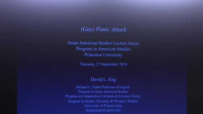 Asian American Studies Lecture Series Program in American Studies - David L. Eng