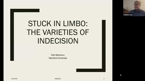 Thumbnail for entry Psychology Colloquium 10-2-2020: Rob MacCoun