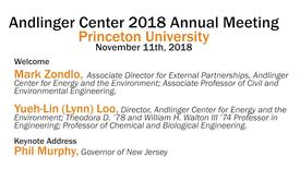 Thumbnail for entry Andlinger Center 2018 Annual Meeting: Welcome & Keynote address (video 1)