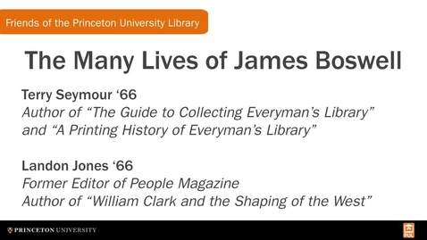 Thumbnail for entry The Many Lives of James Boswell