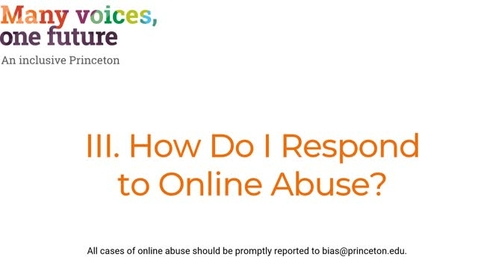 Thumbnail for entry III. How Do I Respond to Online Abuse?