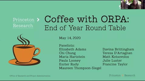 Thumbnail for entry Coffee with ORPA: Year in Review 2020 - 5/14/20
