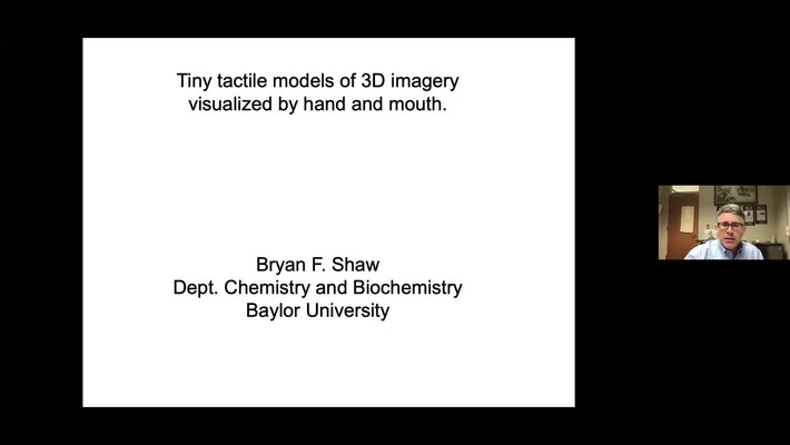 Making Molecular Imagery More Accessible to Students with Blindness presented by Dr. Bryan Shaw at ISLAND 2021