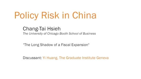 "Thumbnail for entry Policy Risk in China - ""The Long Shadow of a Fiscal Expansion"""