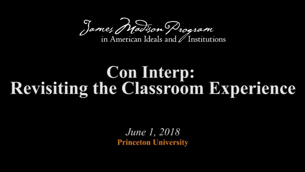 Con Interp: Revisiting the Classroom Experience