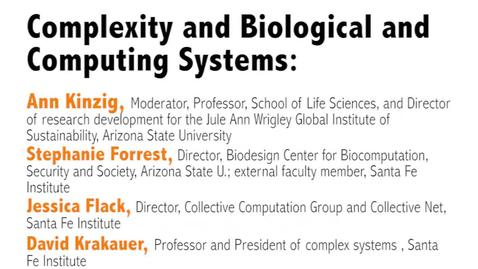 Thumbnail for entry Metaphor – Promise and Peril: Complexity and Systems Thinking in Action : Day 2, Video 1: Complexity and Biological and Computing Systems