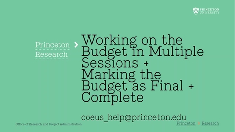 Thumbnail for entry 4.7 Marking Coeus Budget Final + Complete