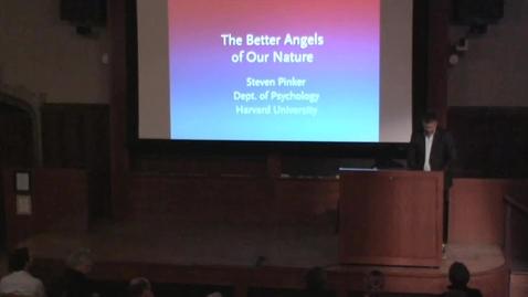 Thumbnail for entry Vanuxem Lecture - Steven Pinker