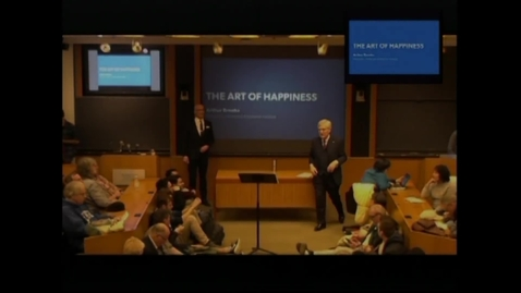 """Thumbnail for entry The G.S. Beckwith Gilbert '63 Lectures: Dr. Arthur C. Brooks P20 - """"The Art of Happiness"""""""