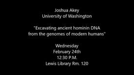 Thumbnail for entry Joshua Akey - University of Washington
