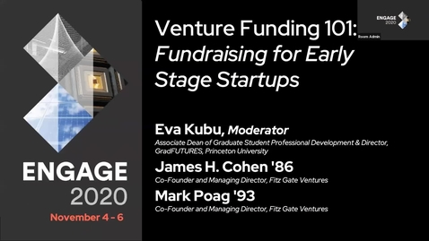 Thumbnail for entry Venture Funding 101: Fundraising for Early Stage Startups
