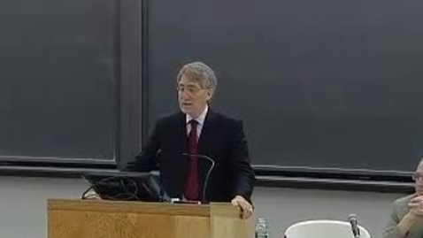 Thumbnail for entry Natural Law, Natural Rights, and the American Republic - Award Presentation and Keynote Address by Michael P. Zuckert