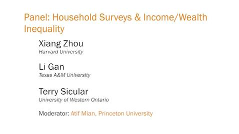 Panel: Household Surveys and Income/Wealth Inequality