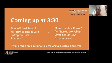 Thumbnail for entry Reunions 2020 Tiger Entrepreneurs Conference: How to Engage with Entrepreneurial Princeton