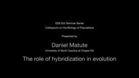 Thumbnail for entry The role of hybridization in evolution