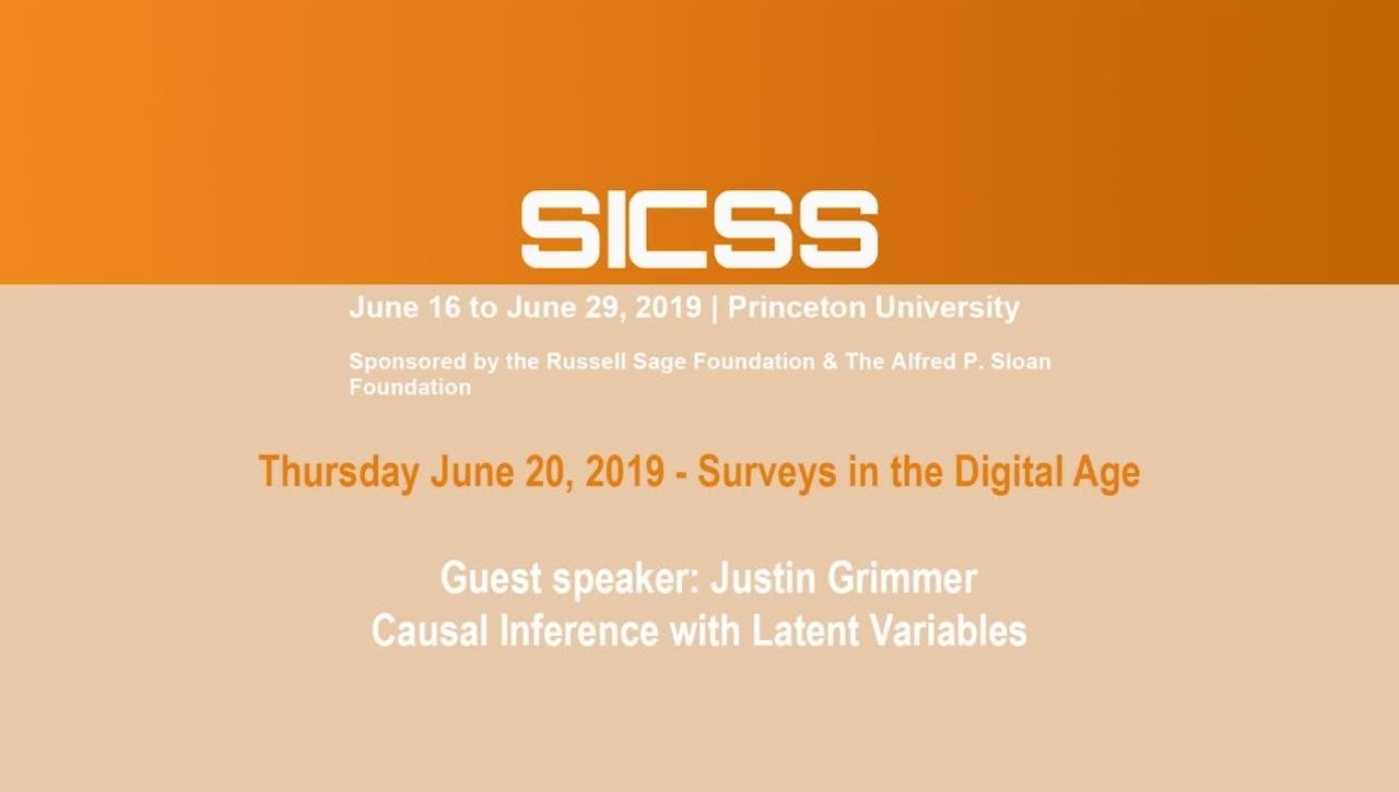 SICSS 2019 - Guest speaker: Justin Grimmer