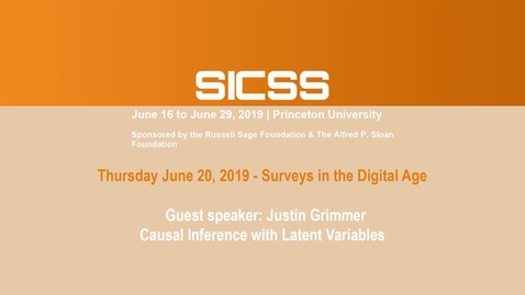 Thumbnail for entry SICSS 2019 - Guest speaker: Justin Grimmer