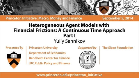 Thumbnail for entry Heterogeneous Agent Models with Financial Frictions: A Continuous Time Approach -Part I