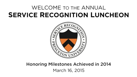 Thumbnail for entry 2015 Service Recognition Luncheon