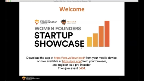 Thumbnail for entry Princeton Women Founders Startup Showcase