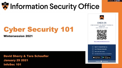 Thumbnail for entry Cyber Security 101 - Wintersession 2021