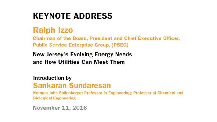 Ralph Izzo - Keynote Address: New Jersey's Evolving Energy Needs and How Utilities Can Meet Them